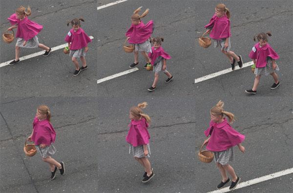 Parade-jumping girl