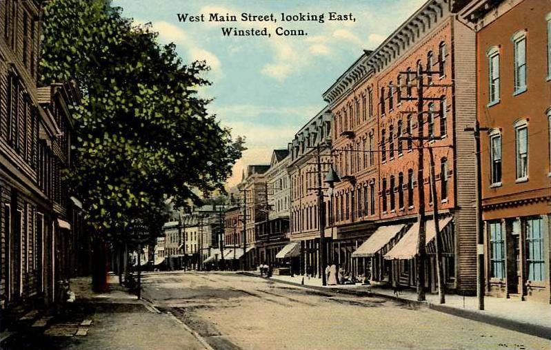 West_Main_Street,_Looking_East,_Winsted,_CT